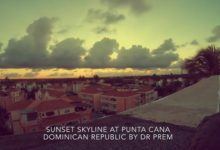 Sunset Skyline At Punta Cana, Dominican Republic By Dr Prem Jagyasi