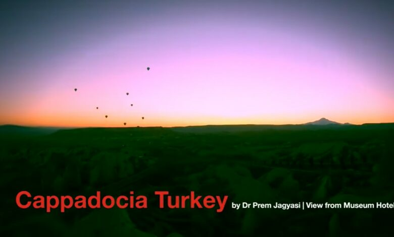 Photo of Watch This Incredible Timelapse Of Balloon Safari And Sunrise Over Cappadocia Mountains In Turkey