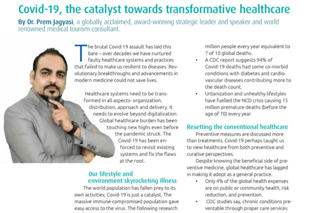 Covid-19, The Catalyst Towards Transformative Healthcare - Dr Prem Jagyasi 6