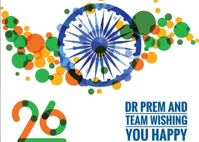 Photo of Dr Prem and Team Wishing You Happy Republic Day