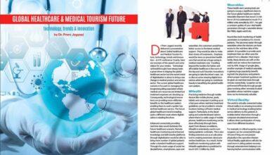 Published My Article On A Leading Middle Eastern Magazine - Arab Hospital - Dr Prem Jagyasi 1