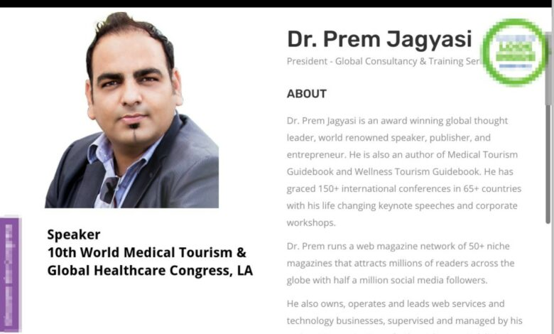 World Medical Tourism & Global Healthcare Congress 2017, LA, USA - Dr Prem Jagyasi