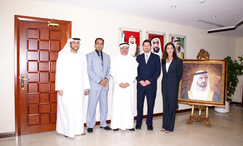 Dr Prem Jagyasi with UAE Health Minister, Nasser Al Buddor, Renee Marie Stephano and Jonathan Edelheit