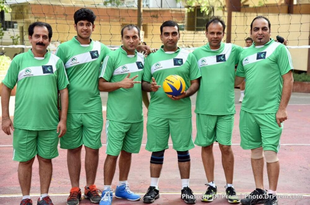 Participated in Volleyball Premium League, Organised By Society Members - Dr Prem Jagyasi 1