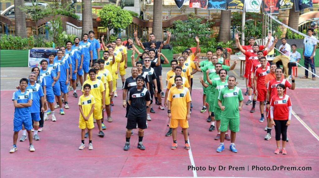 Participated in Volleyball Premium League, Organised By Society Members - Dr Prem Jagyasi