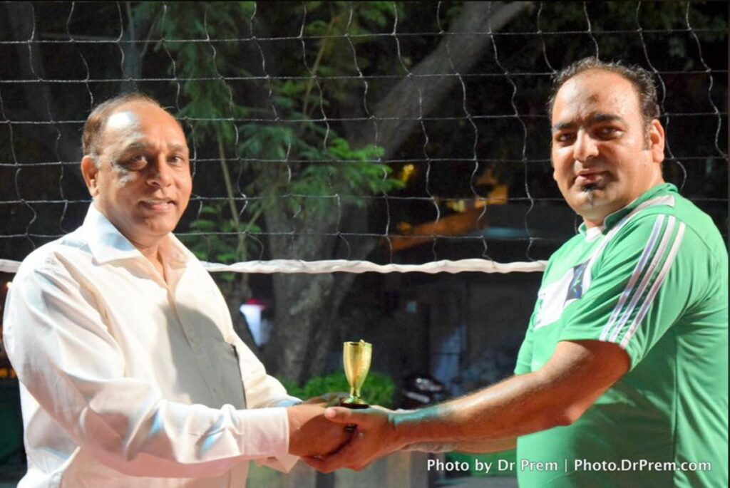 Participated in Volleyball Premium League, Organised By Society Members - Dr Prem Jagyasi 4