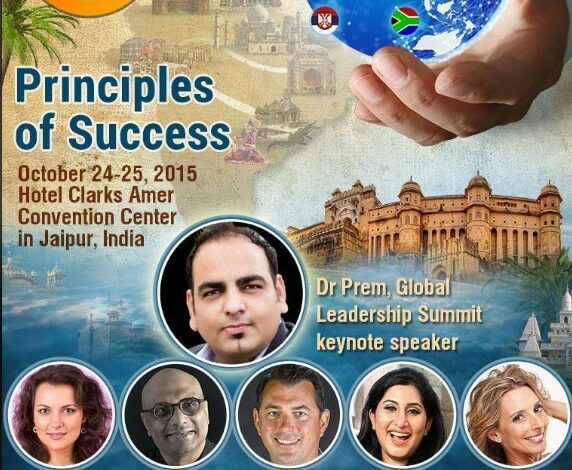 I'll Be Delivering Keynote Speech in Upcoming Global Leadership Summit 2015 in Jaipur India - Dr Prem Jagyasi