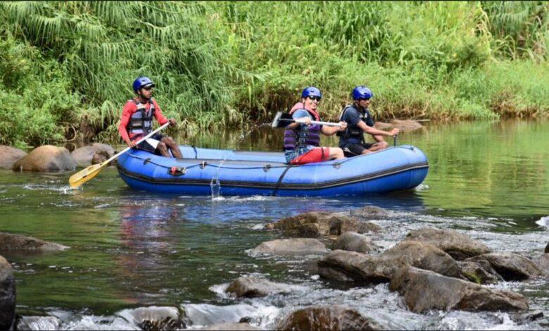 In Sri Lanka - White River Rafting at scenic Kalani River near Nuwra Iliya - Dr Prem Jagyasi 2