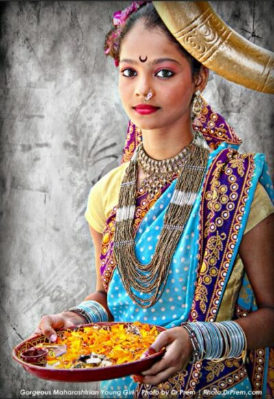 Photo Of The Day - Gorgeous Maharashtrian Girl Wearing Traditional Dress And Ornaments - Dr Prem Jagyasi