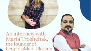 An Inerview With Marta Troshchak, Founder Of LeopolisMed, Ukraine By Dr Prem Jagyasi