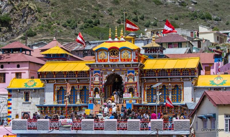 The temple of Badarinatha in the Indian Himalayas