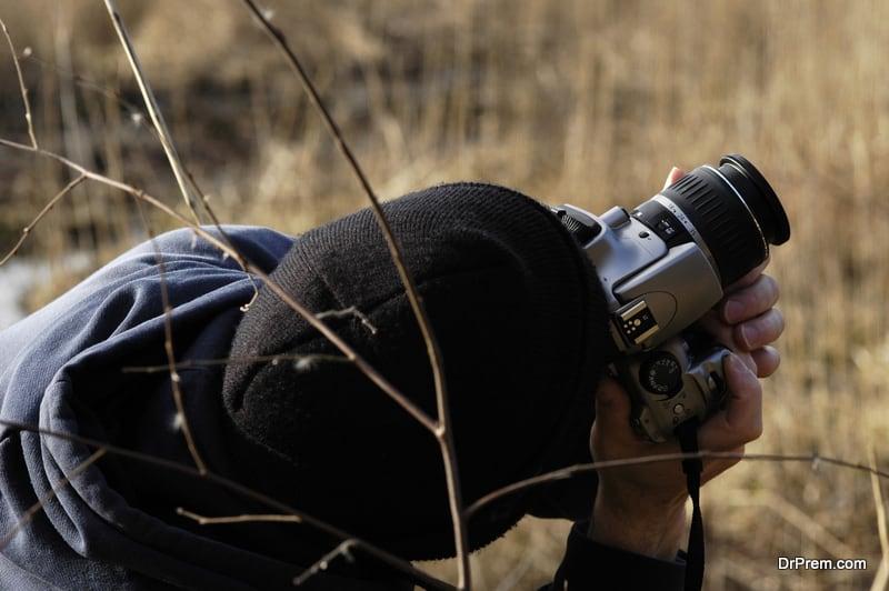photographer taking angular shot