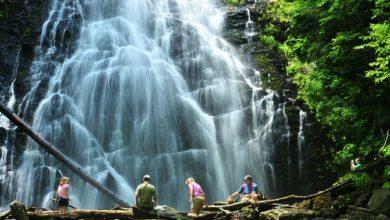 Travel trip to Crabtree falls, Virginia, USA