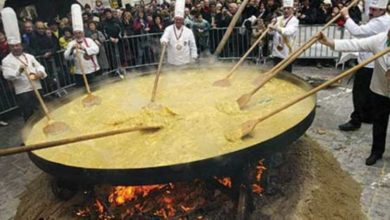 Photo of Giant omelette festival Abbeville, Louisiana USA