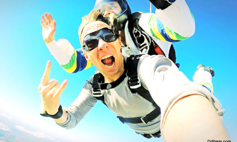 Skydiving shot