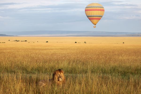 Kenyan balloon safari