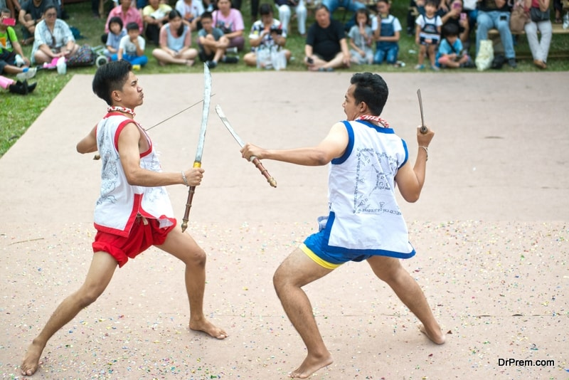 Thai Sword and pole Fighting