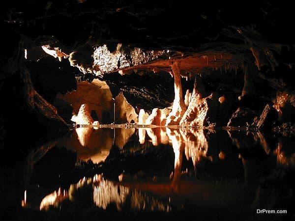 Cheddar Gorge and Woo key hole, Cheddar and Wells, England