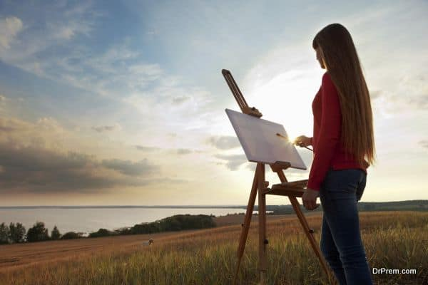 Prepare yourself with your sketching and painting kit