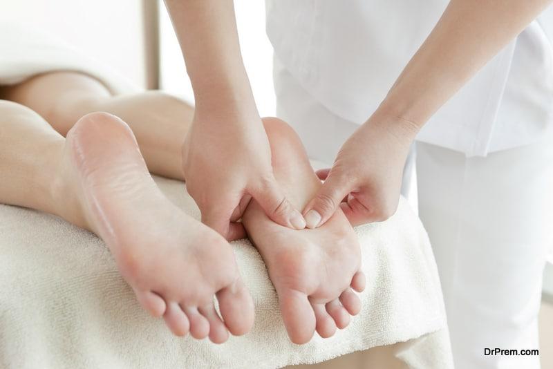Feet reflexology