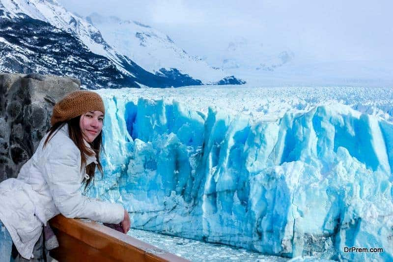 woman on Antarctica-trip