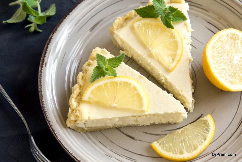 Delicious lemon pies