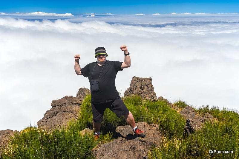 overweight hiker