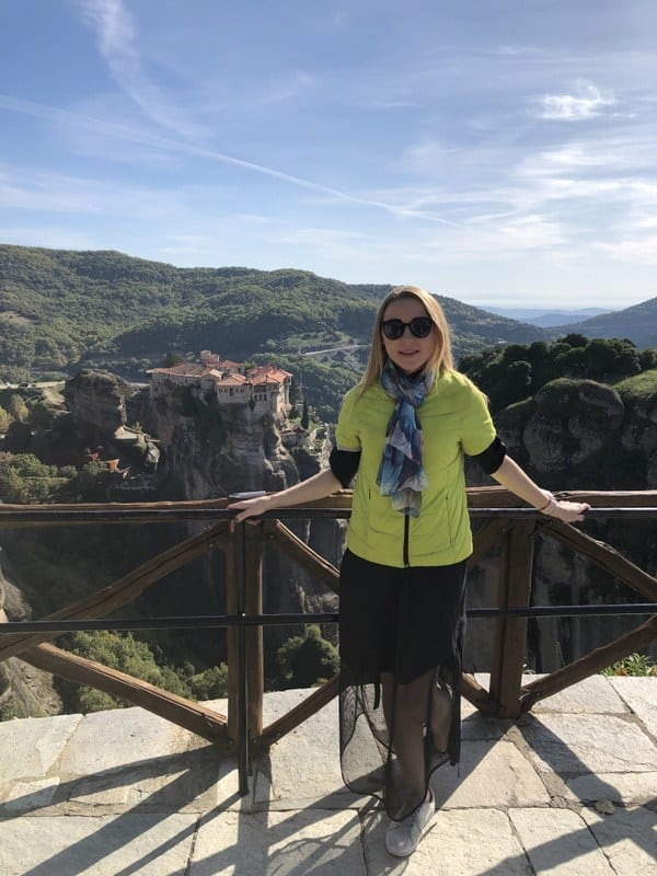 view of the majestic Meteora rocks and the monasteries