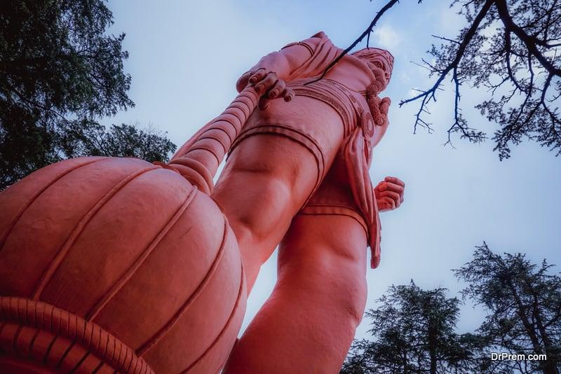 A huge statue of Hanuman. Shimla, India