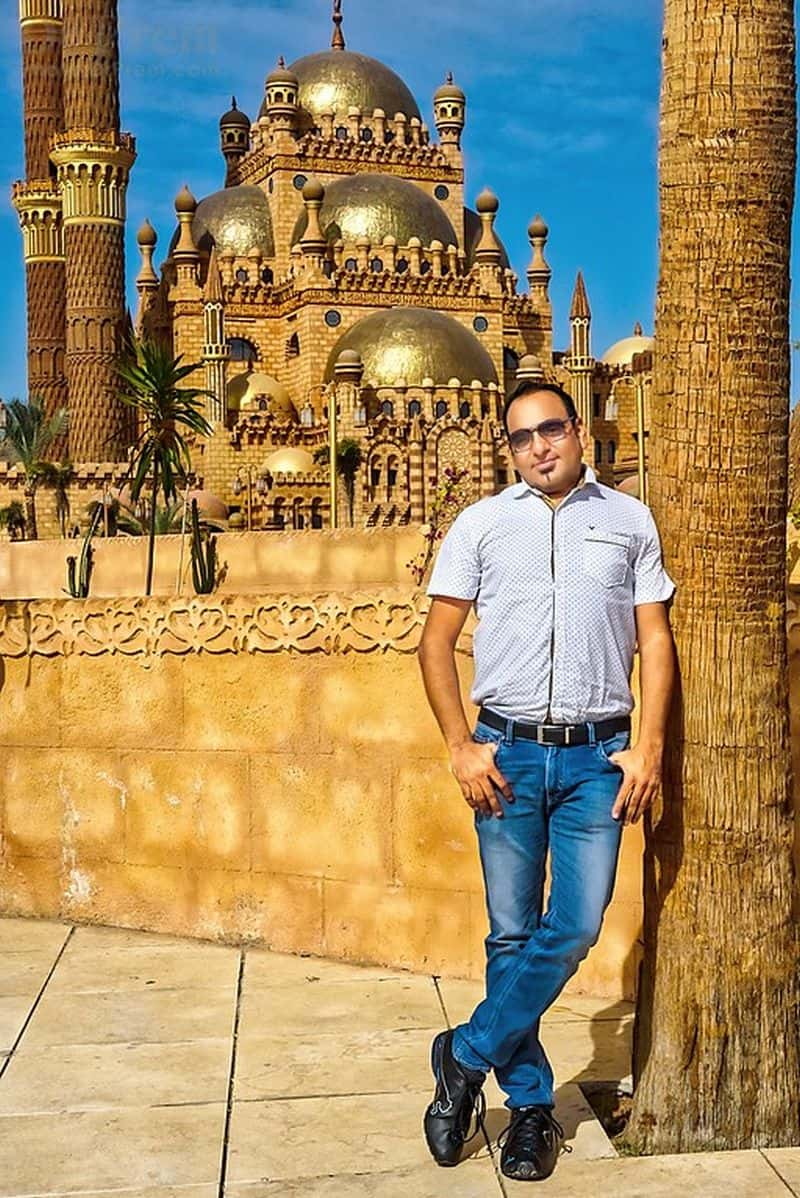 Dr Prem at Al Mustafa Mosque Sharm El Sheikh Egypt
