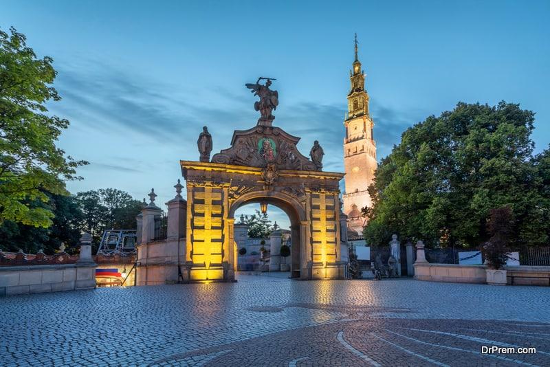 Lubomirski Gate in Jasna Gora monastery, Czestochowa