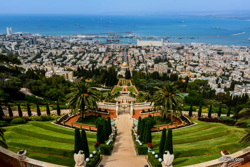 The Bahai grardens and temple in Haifa, Isarael