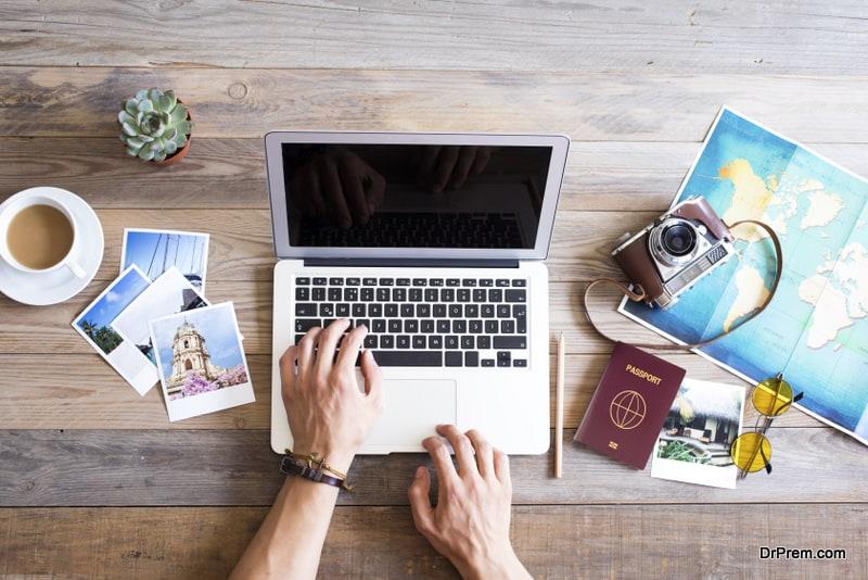 arranging photographs post travel