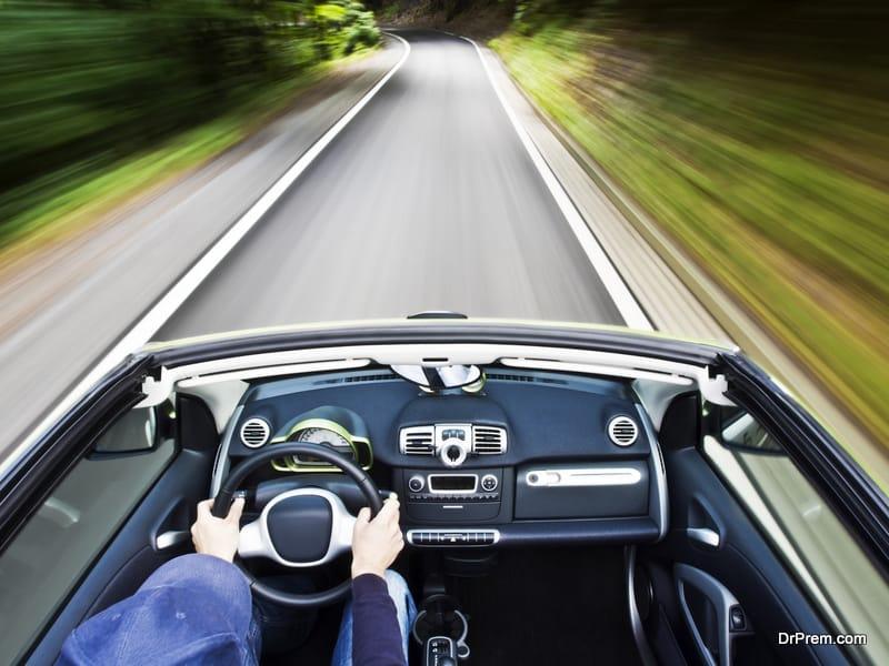 driving an electric car