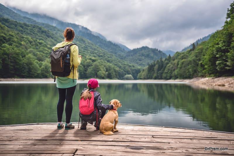 family on eco tourism