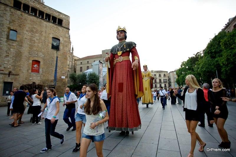 Giants Parade in Barcelona