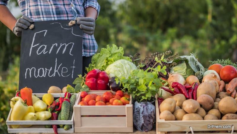 showcasing their farm products