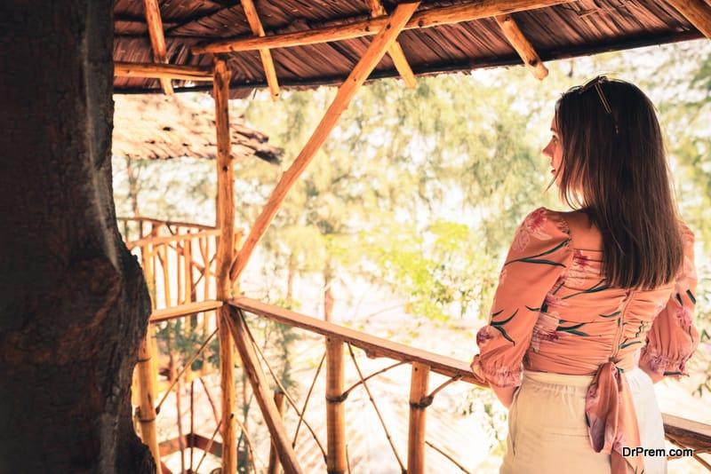 woman at Jungle Lodge