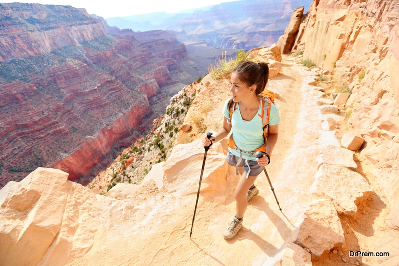 woman visited Grand Canyon