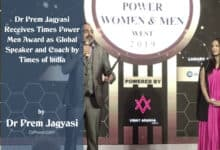 Photo of Dr Prem Jagyasi Receives Times Power Men Award as Global Speaker and Coach by Times of India
