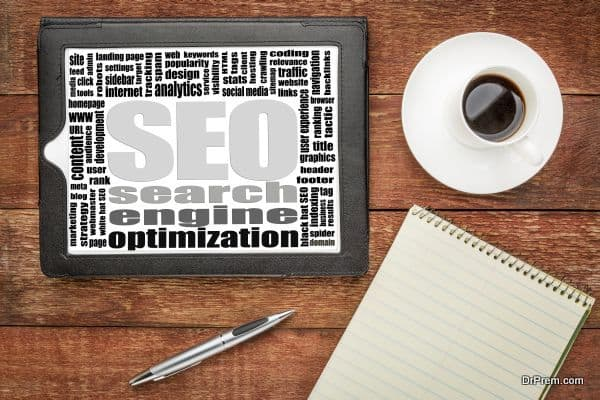search engine optimization (SEO) word cloud