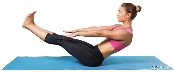lady performing Yoga-Pilates