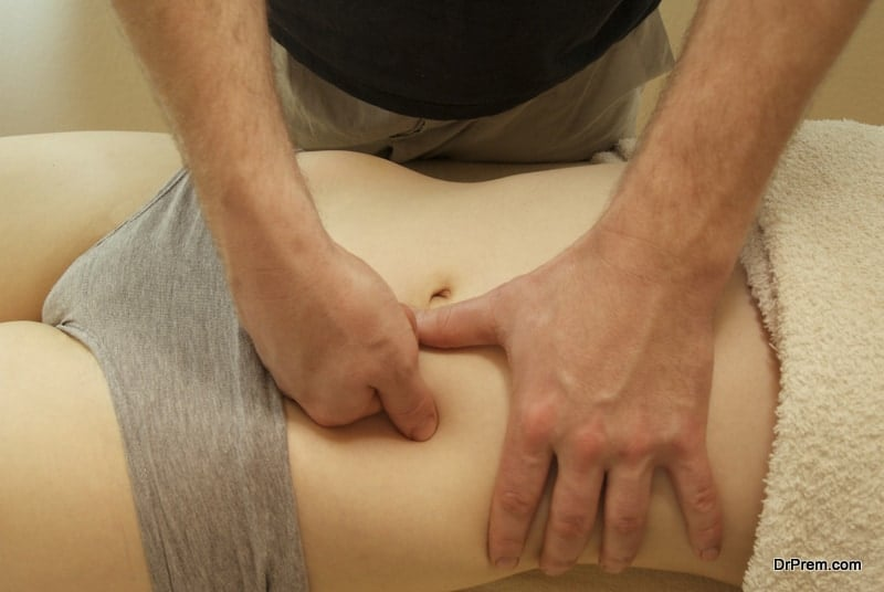The point below the belly-button