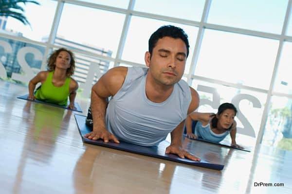exercising Yoga posture