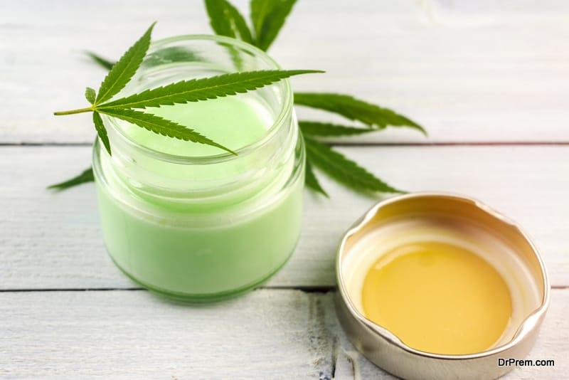 CBD oil-based lotion