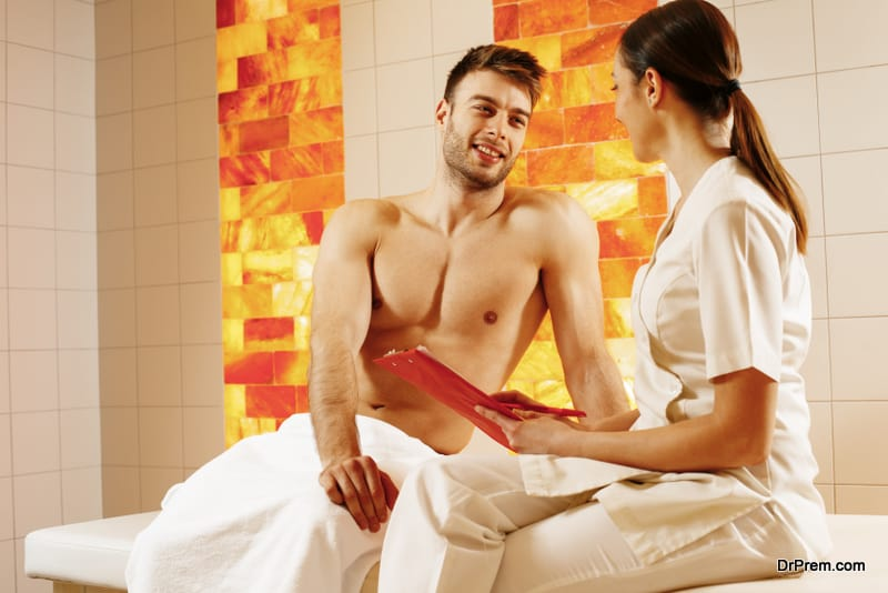 consultation with the SPA THERAPIST