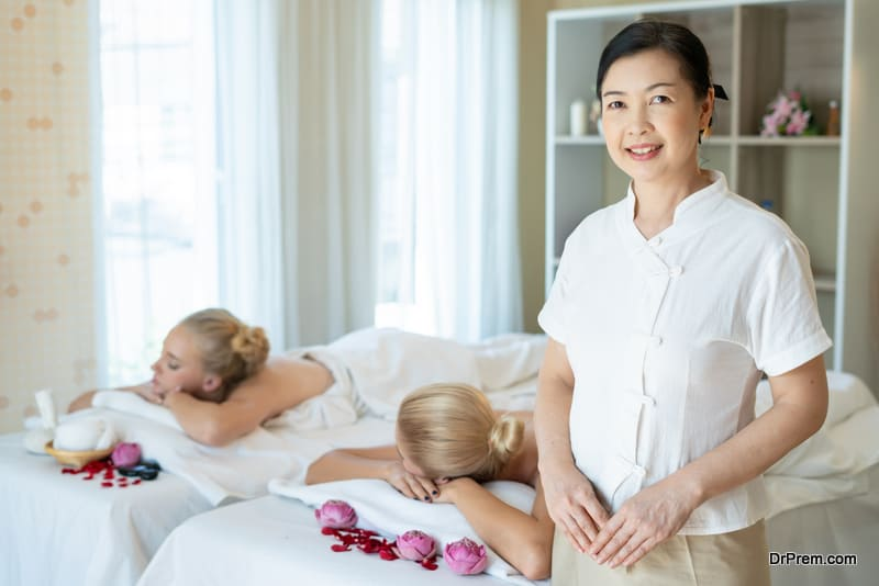 services offered at a wellness resort