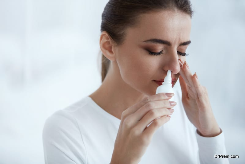 woman having some Nasal issues