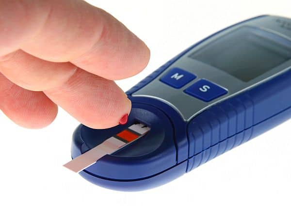 Glucose level blood test