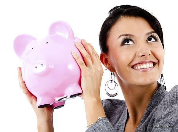 Woman's savings